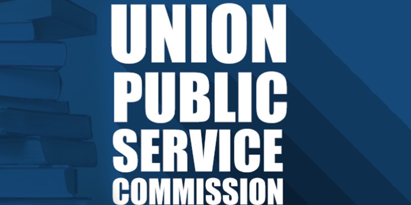 Image of Union Public Service Commission In Blue Background.