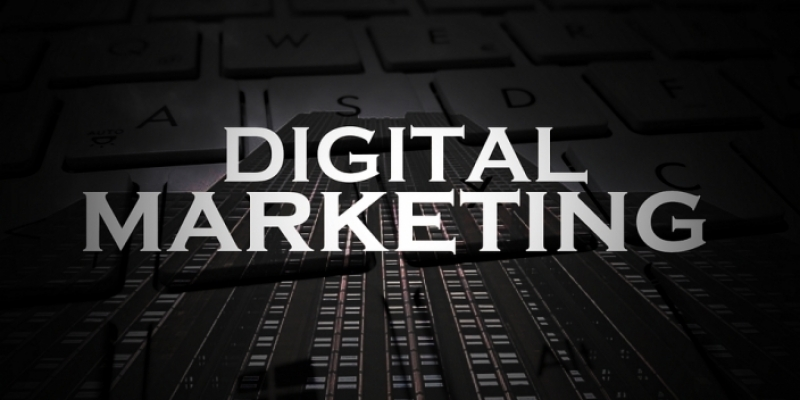 Image That Shows Digital Marketing Text In Black Background
