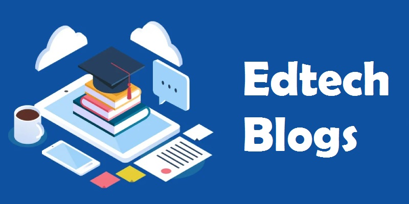 EdTech Blogs - Text Written In Blue Background.