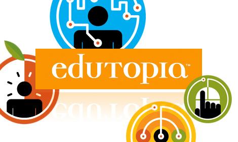 Edutopia - Logo Representing The Edutopia Blog For K-12 Students.
