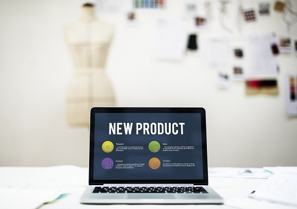 A Laptop Showing The New Product Launches.