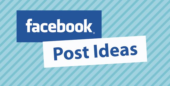 A Text Written Facebook Post Ideas In A Blue Background.